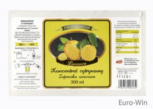 Koncentrat - Cytrynowy Limonce 300 ml